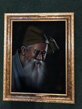 New ListingOriginal Oil Painting On Velvet Okinawa 1971 Portrait Of Old Man, 19� X 15�