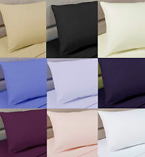 Unbranded Polycotton Patternless Pillow Cases