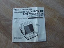 """Table top Mini arcade Game Instructions """" Glouton et les monstres """" game watch"""