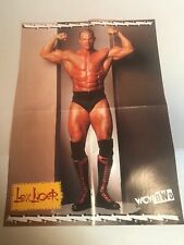 NWO 2 Sided LEX LUGER WRESTLING MAGAZINE PINUP POSTER WCW WWE