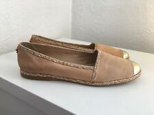 Stuart Weitzman Pour Russell & Bromley Gold Toe Cap Chaussures-Taille US 9.5/UK 7.5