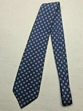 Vintage Men's Necktie Tie Classic Style Givenchy Navy Blue Abstract Polka Dot