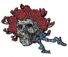 Grateful Dead Skull Wearing Roses Patch / Iron On Applique