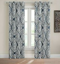 "Design Solution Caleb 63"" Grommet Light-Filtering Curtain 1 Panel Blue Gray"