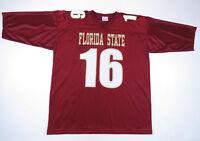 NWOT Vintage 90s Chris Weinke Florida State Seminoles #16 NCAA Football Jersey L