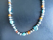 SILPADA - N0814 - Turquoise and Carnelian Stone Necklace - RARE!