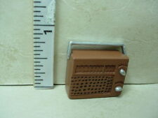 Dollhouse Miniature Portable Radio -Removable Back - Painted Metal