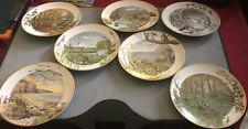 Set of 7 Peter Barrett Collector Plates 1979 Franklin Mint Porcelain