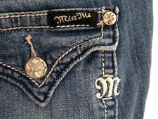 ☀️Buckle MISS ME Wide Leg Denim Jeans JS5148W3 ~Women's Tag 26 x 29 short petite
