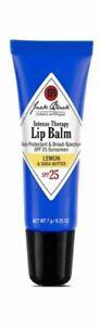 Jack Black Lemon & Shea Butter Intense Therapy Lip Balm SPF 25 - NEW AUTHENTIC