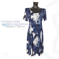 S-XL DF Made in France Ärmellos Elegant Lang Sommerkleid leicht Gr 36-44