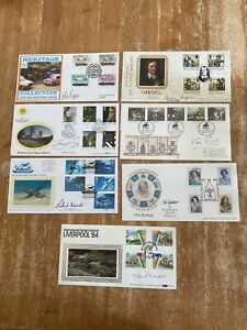 Job Lot of Signed FDCs Cover's As Per Photos Autographed First Day Covers