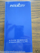 UK InterCity Pocket Train Timetable London Inverness Taschen-Fahrplan 1992-1993
