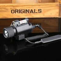 CREE LED Flashlight Torch Tactical Red Rifle Laser Dot Sight Combo for 20mm Rail