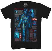 Star Wars Darth Vader Blueprint Lightsaber Adult Mens Graphic Tee T-Shirt Empire