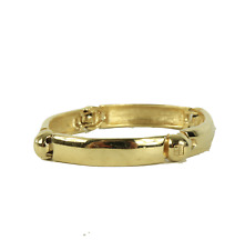Vintage 70s Givenchy Ball Hook Clasp Bracelet Bangle Jewelry Stamped Gold Plated
