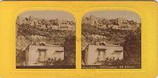Naples Italie Italia Château Sant'ElmoStéréo Diorama Stereoview Tissue Vintage