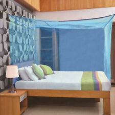 Beautifull Foldable King Size (Double Bed) Mosquito Net, Blue, 8 x 8 ft UK