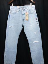 Levis 501 Blue jeans Mens Punk destroyed Denim Blue Jeans Mens 32x30 New W Tags