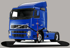 MODEL CARS, TRUCK VOLVO FH12-01 with Clock 11,8x 7,8 inches and aluminium