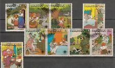 Paraguay 1979 Gebrüder Grimm Rotkäppchen  3229/37 kompletter Satz gestempelt