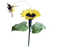 1PCS Solar Powered Flying Dancing Sunflower HUMMINGBIRD Garden Yard Decoration