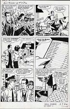1967 GET SMART #4 ORIGINAL COMIC ART PAGE MAXWELL SMART TV SHOW AGENT 99 CLASSIC