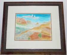 """Framed Original Watercolor """"Sedona Valley Light""""with Conservation Glass"""