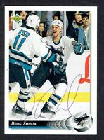 Doug Zmolek #509 signed autograph auto 1992-93 Upper Deck Hockey Card