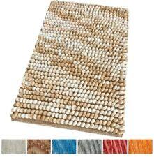 Tappeto bagno scendiletto camera 100% cotone shaggy morbido soffice colorato