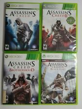 Lot of 4 XBOX 360 Video Games Assassins Creed 1, 2,5 & Brotherhood Tested