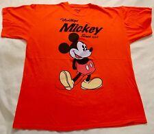 "Disney ""Vintage Mickey Since 1928"" Mickey Mouse T-shirt Size Xl Orange"