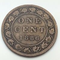 1886 Canada Copper One Cent Penny Circulated Canadian Coin C777