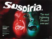 Home Wall Art Print - Vintage Movie Film Poster - SUSPIRIA - A4,A3,A2,A1