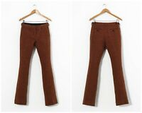 Women's BURBERRY PRORSUM Wool Tweed Pants Trousers Orange Size 42