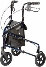 Carex 3 Wheel Walker for Seniors, Foldable, Rollator Walker with Three Wheels