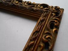 SUPER Antico Vittoriano Decorativi Dorati Gesso Foto Dipinto Cornice Specchio