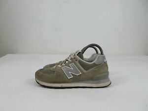 New Balance 574 Classic Gray Suede Shoes Athletic Running Lace Up Womens 7.5