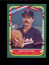 1987 Fleer Stickers BERT BLYLEVEN Minnesota Twins Box Bottom Card