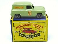 Matchbox Lesney No.59a Ford Thames 'Singer' Van (VERY RARE GOLD/SILVER MIX TRIM)