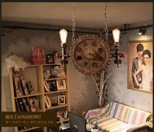 Industrial Machine Gear Pipe Chandelier E27 Light Aged Steel Finish Ceiling Lamp