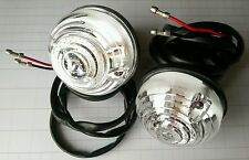 Austin Mini Cooper Classic Clear Indicator Units and Lenses with Wiring Tails