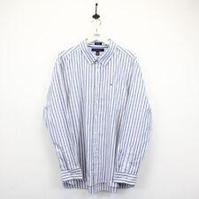 Mens Vintage TOMMY HILFIGER 00s Striped Shirt Button Down Collar Blue White | XL