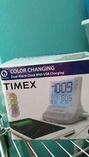 Unique Fiber optic type TIMEX Dual Alarm Clock/USB charging