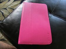 """Elsse SAMSUNG Galaxy TAB 4 7"""" Tablet FOLIO Stand Book Cover Case PINK"""