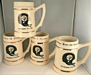 Pittsburgh Steelers Super Bowl Championship Beer Stein Mug