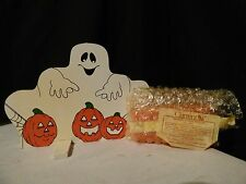 Halloween Decoration Lot of Ghosts - Figure, Candelabra, Treat containers