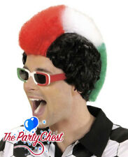 ITALY RED WHITE GREEN MOHICAN SUPPORTER WIG Mohawk World Cup Sport Accs P0706