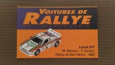 Certificat Voiture De Rallye De Collection « Lancia 037 »TBE.