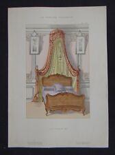 LA TENTURE FRANCAISE 1905 - Lit Louis XV - décoration tapisserie ameublement 59